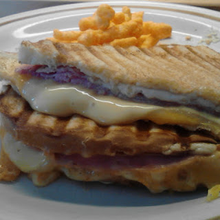Ham & Three Cheese Panini.