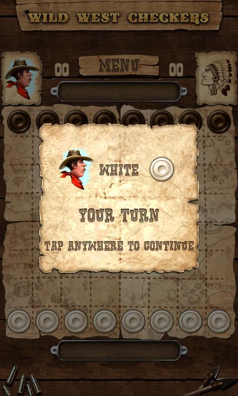 Wild West Checkers- screenshot