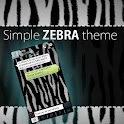 GO SMS Pro Simple Zebra Theme