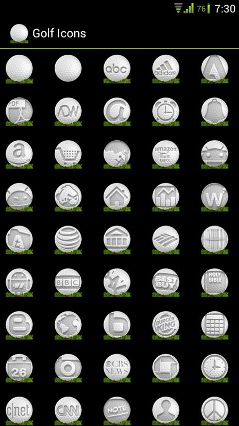 Icon Pack - Golf - screenshot