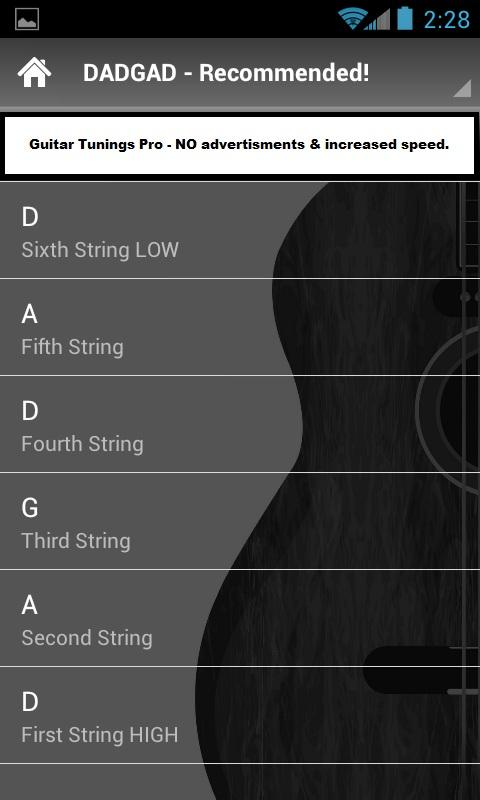 Guitar Tunings- screenshot