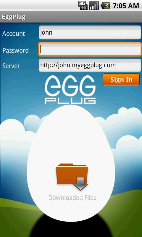 EggPlug- screenshot