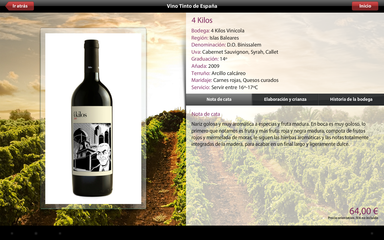 Vinipad Wine List & Food Menu- screenshot