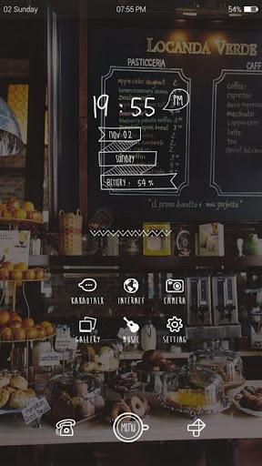 가을 카페 버즈런처 테마 홈팩