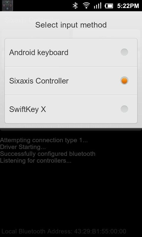Sixaxis Controller - screenshot