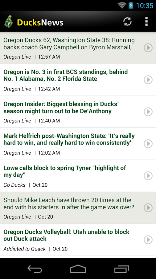 Ducks News - screenshot