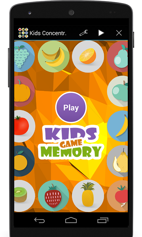 Kids Concentration Game (free)- screenshot