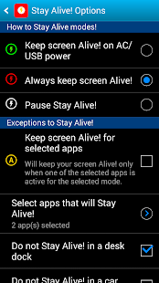 Stay Alive! Keep screen awake - screenshot thumbnail