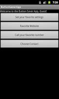 Screenshot of Button Saver App