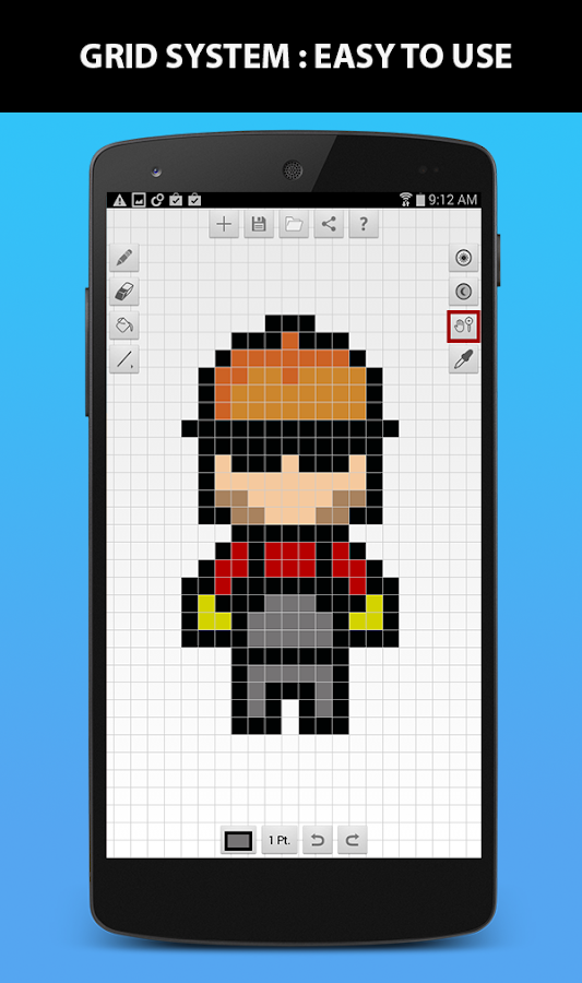 Pixel art builder android apps on google play pixel art builder screenshot pronofoot35fo Choice Image