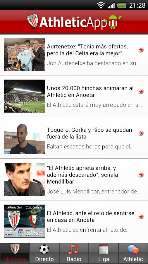 Athletic App - screenshot