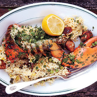 Grilled Lobster Paella.