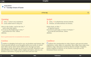 Screenshot of Compline - Night Prayer