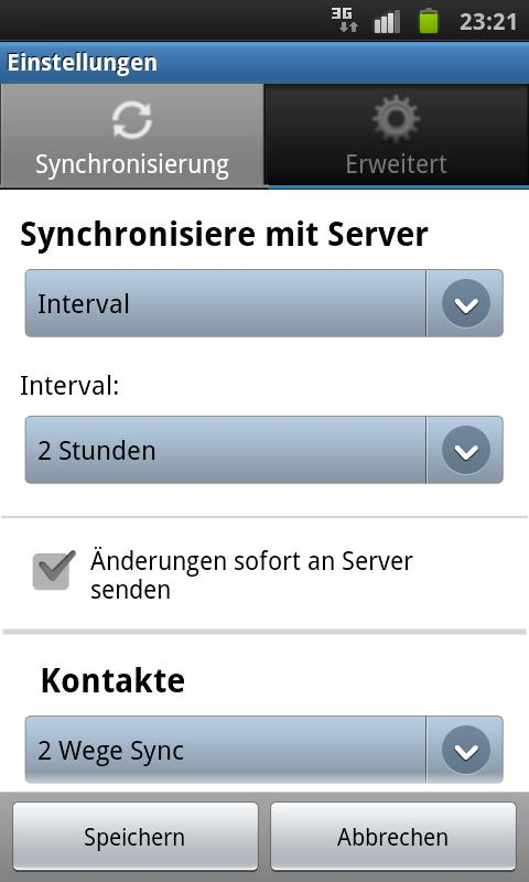 4myPAL SyncML Client & Server - screenshot