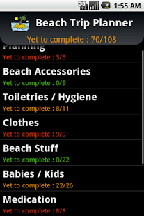 Beach Trip Planner - screenshot thumbnail