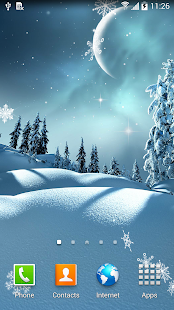 Winter Night Wallpaper - náhled