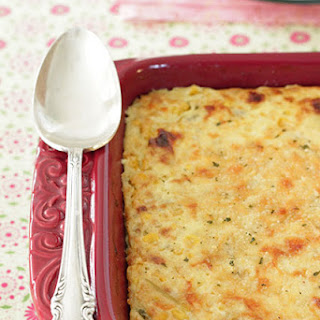 Cheddar and Green Chile Corn Pudding