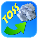 SuperToss:paper trash game icon