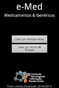 e-Med Medicamentos & Genéricos- screenshot thumbnail
