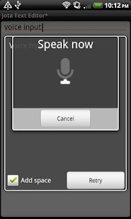 Voice Input for Jota- screenshot thumbnail