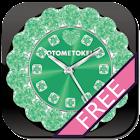 可愛的QLOCK LWP的綠色免費 icon