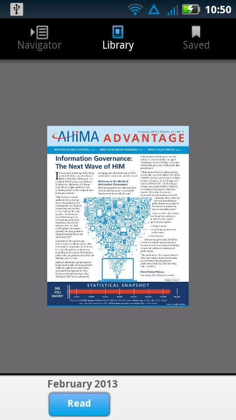 AHIMA Advantage- screenshot