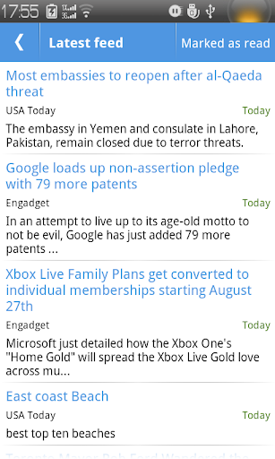 MC RSS Reader screenshot for Android