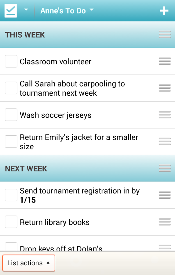 Cozi Family Calendar & Lists - screenshot