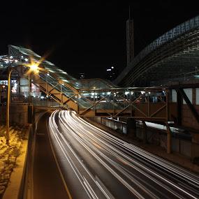 Untitled by Yana Villion - Transportation Roads ( cars lights, cars, night, road, transportation, transportation by land, light, city, land, device, Urban, City, Lifestyle )