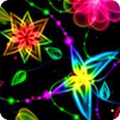 Neon Butterfly LWP Animated