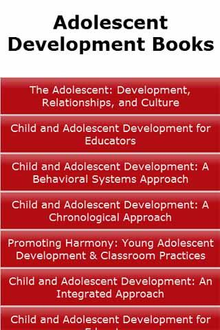Adolescent Development Books