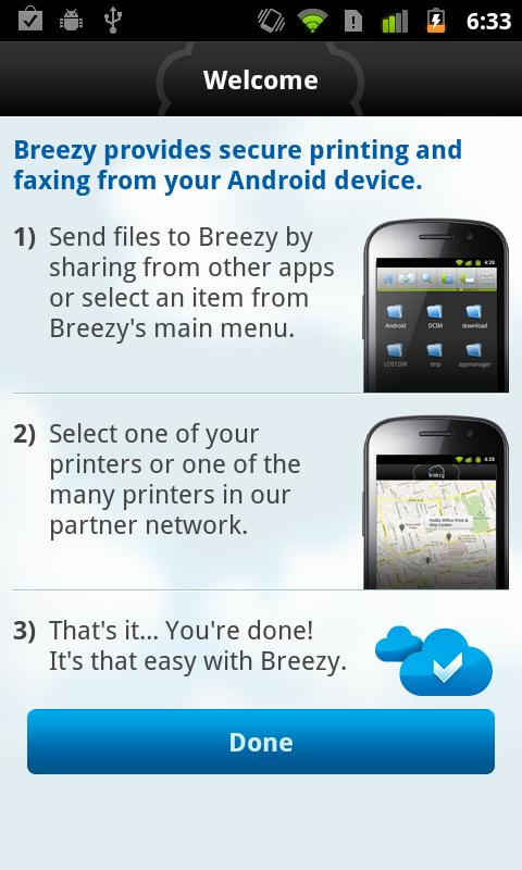 Breezy - Print and Fax - screenshot
