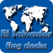 El Salvador flag clocks