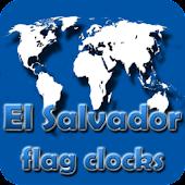 El Salvador flag clocks