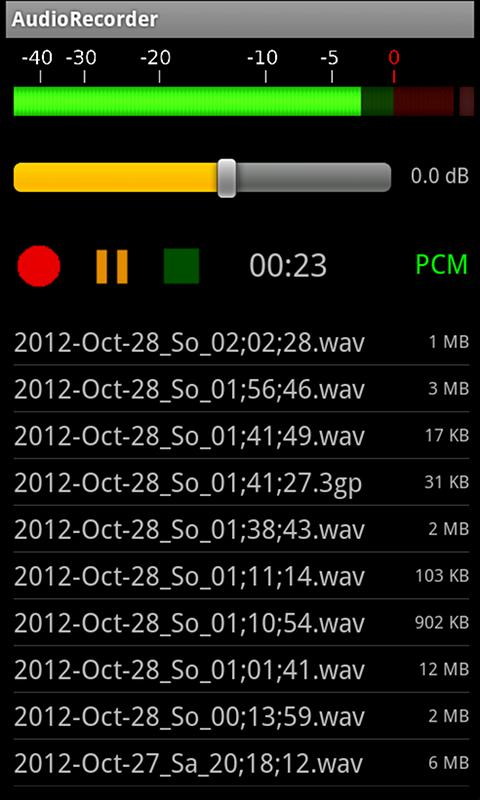 AudioRecorder- screenshot