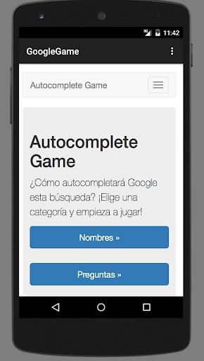 Autocomplete Game