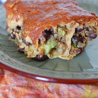 Black Bean and Quinoa Enchiladas.