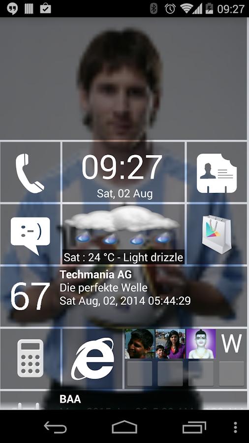 Home8+ like Windows 8 Launcher - screenshot