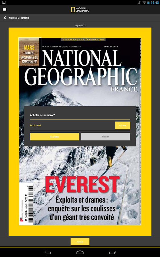 National Geographic France – Capture d'écran