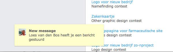 realtime notifications op ontwerpen-voor-geld.nl