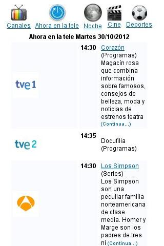 Programación TV ES - screenshot