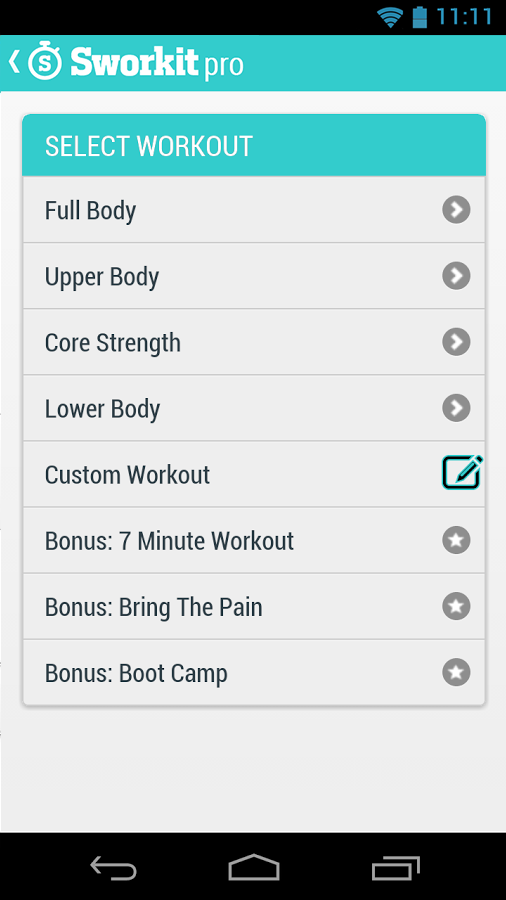 Sworkit Pro - Circuit Training - screenshot