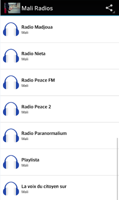 Mali Radios - screenshot