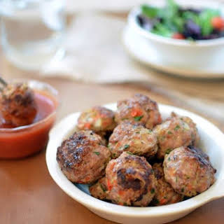 Turkey Meatballs with Sweet-n-Sour Sauce.