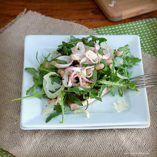 Calamari, Fennel and White Bean Salad with Arugula