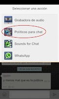 Screenshot of Políticos para Chat & What'sUp
