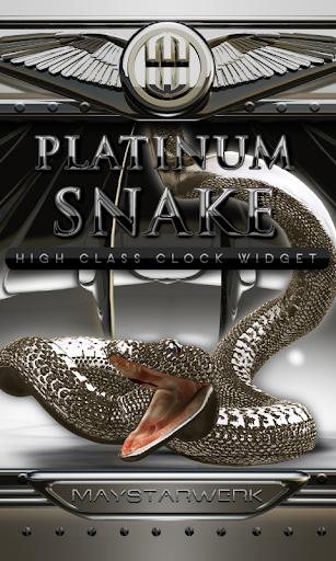 platinum snake clock widget