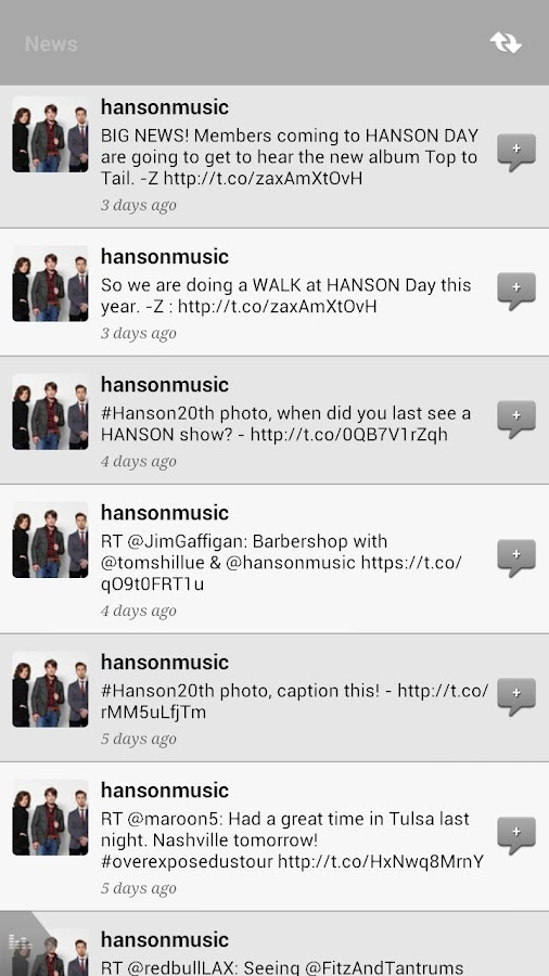 Hanson App - screenshot