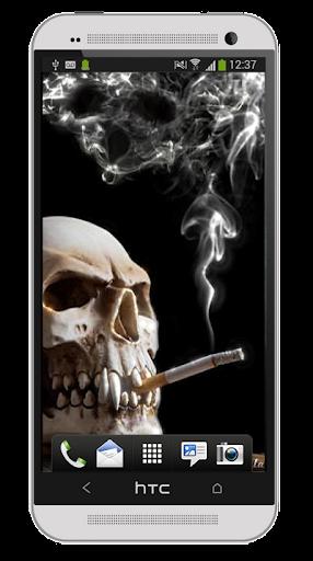 Wallpaper Caveira Fumando