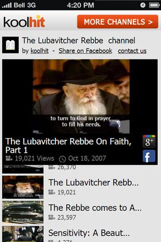 The Lubavitche Rebbe TV